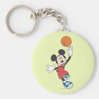 Sporty Mickey | Throwing Basketball Keychain
