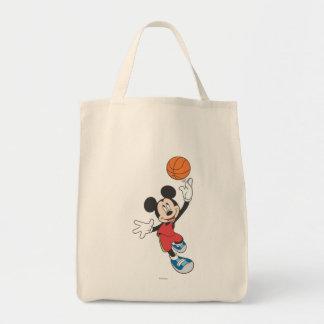 Sporty Mickey | Throwing Basketball Tote Bag