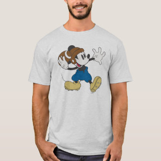 Sporty Mickey | Throwing Football T-Shirt