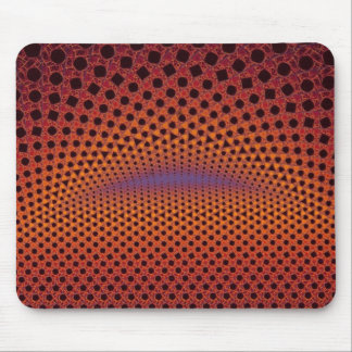 Sporty Orange and Black Mouse Pad