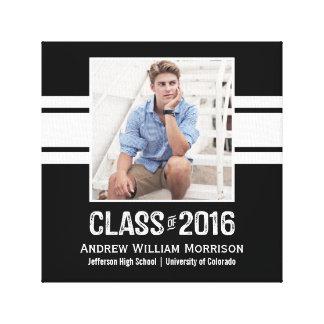 Sporty Prep Graduation Photo Class of 2016 Canvas Print