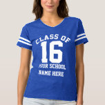 Sporty Senior Class of 2016 Personalized School T-shirt