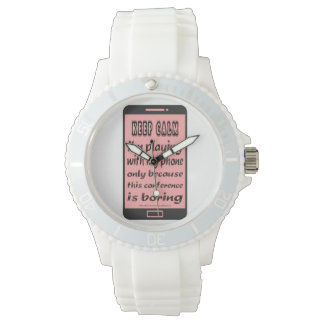 Sporty Silicon Watch Pink Keep Calm Phone