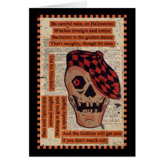 Sporty Skeleton Card