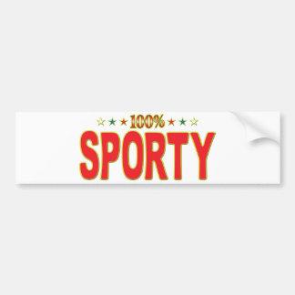 Sporty Star Tag Bumper Sticker