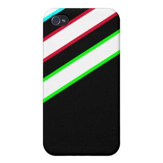 Sporty Stripes iPhone Case - Black
