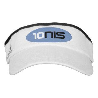 Sporty sun visor cap for tennis player coach