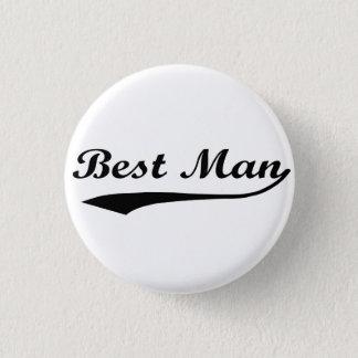 Sporty swash Best Man Black Pinback Button