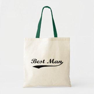 Sporty swash Best Man Black Tote Bag