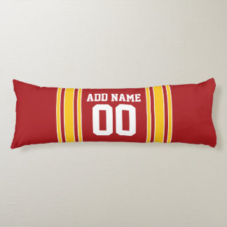 Sporty Team Jersey with Name and Number Body Pillow