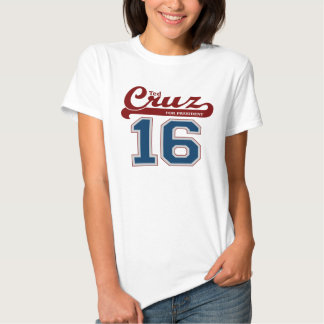Sporty Ted Cruz for President '16 T-shirts