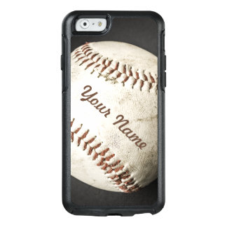 Sporty Vintage Baseball Phone Case With Your Name
