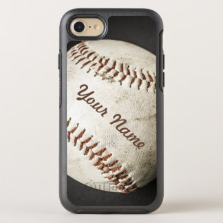 Sporty Vintage Baseball Phone With Your Name OtterBox Symmetry iPhone 7 Case