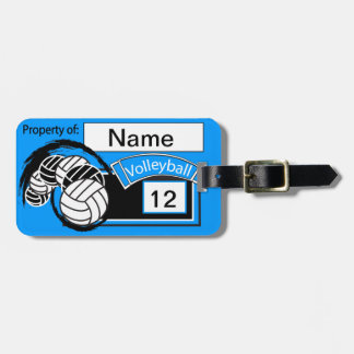 Sporty Volleyball | DIY Background Color Bag Tag