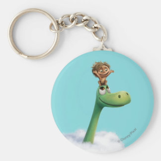 Spot And Arlo Head In Clouds Keychain