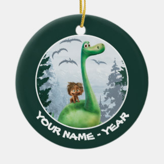 Spot And Arlo In Forest Ceramic Ornament