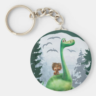 Spot And Arlo In Forest Keychain