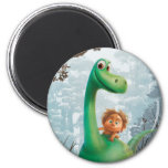 Spot And Arlo Walking Through Forest 2 Inch Round Magnet