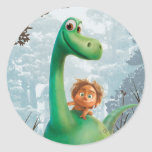 Spot And Arlo Walking Through Forest Classic Round Sticker