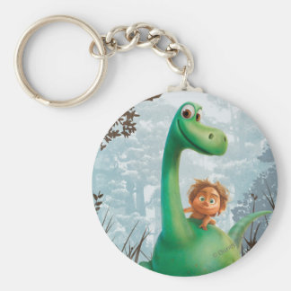 Spot And Arlo Walking Through Forest Keychain