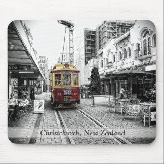 Spot Colour Tram : Christchurch, New Zealand Mouse Pad