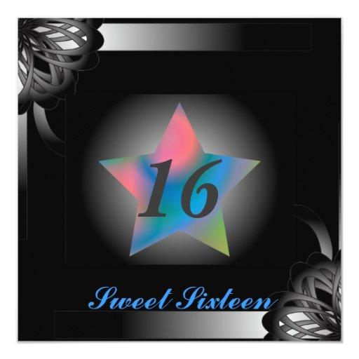 Spot Light Star Sweet Sixteen  -Customize Custom Announcements