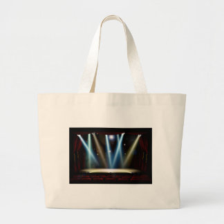 Spot Lights Theatre Stage Large Tote Bag