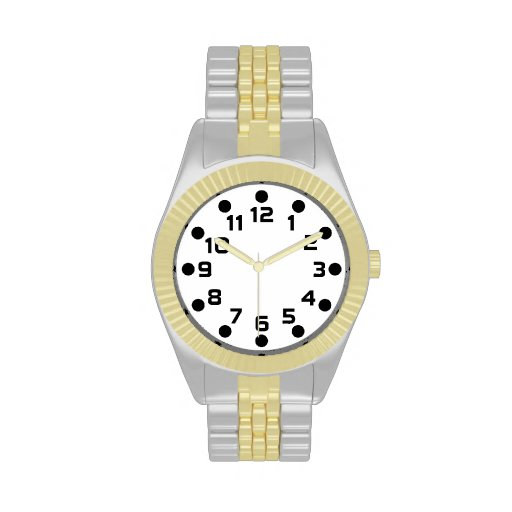Spot Markers - Black on White Watches