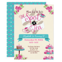 Spot of Tea Birthday Party Invitation