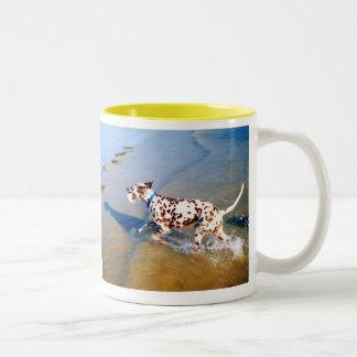 SPOT THE DALMATIAN DOG Two-Tone COFFEE MUG