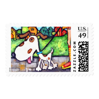 Spot The Dog's Walk Postage Stamps