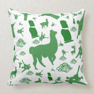 Spot the Llama Throw Pillow