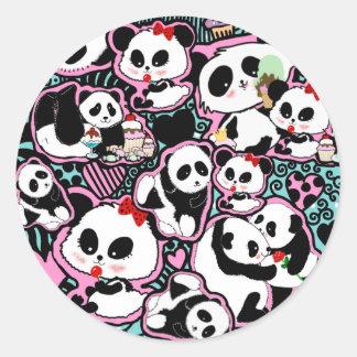 Spot The Panda! Panda Doodles Classic Round Sticker