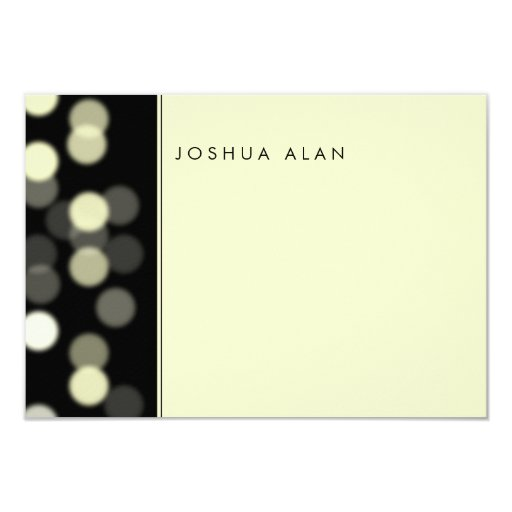 Spotlight Bar/Bat Mitzvah Thank You Note Personalized Announcement