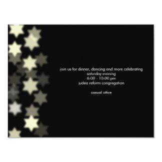 """Spotlight Bar Mitzvah Custom Reception Invitation 4.25"""" X 5.5"""" Invitation Card"""
