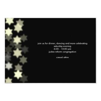 Spotlight Bar Mitzvah Custom Reception Invitation