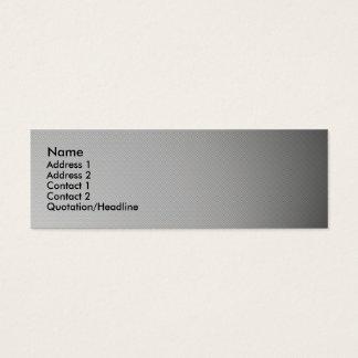 Spotlight carbon fiber skinny business card. mini business card