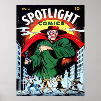 SPOTLIGHT COMICS Cool Vintage Comic Book Cover Art Poster