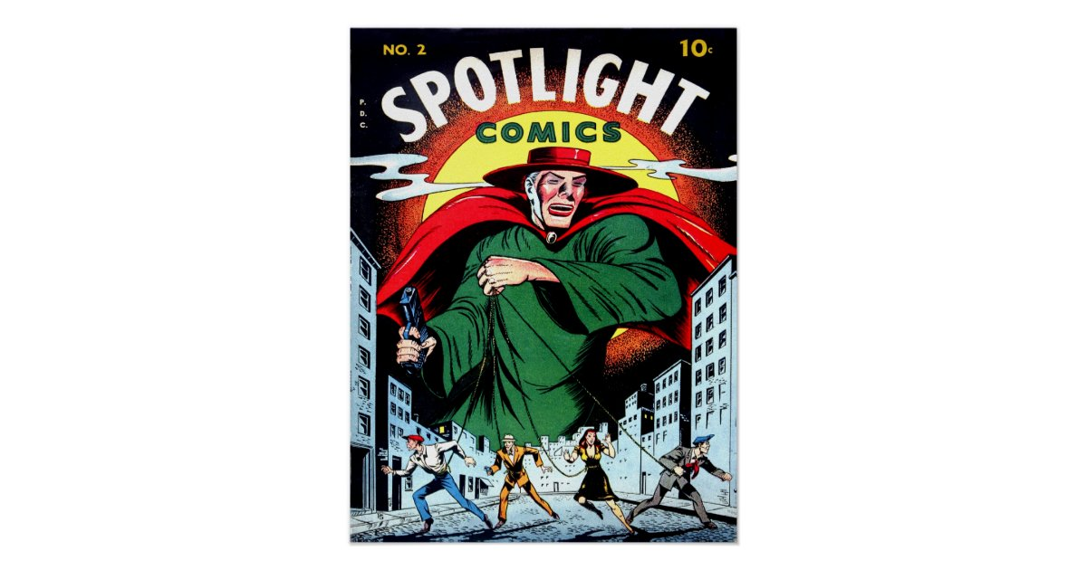 Cool Book Cover Posters ~ Spotlight comics cool vintage comic book cover art poster
