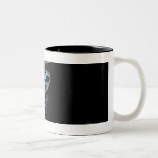 Spotlight on a medical caduceus Two-Tone coffee mug
