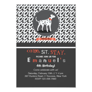 Spotlight on Dalmatian Invitation
