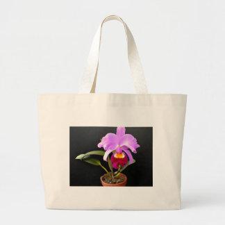 Spotlight on Purple Potted Orchid Jumbo Tote Bag