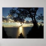 sunset, spotlight, trees, door, county, wisconsin,