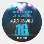 Spotlight Star Blue Sweet 16 Stickers