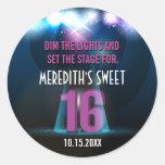 Spotlight Star Purple Sweet 16 Stickers