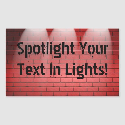 Spotlights On Red Brick Stickers