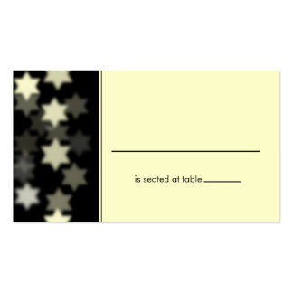 Spotlights Star of David Placecard Business Card