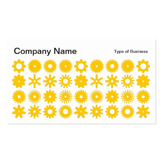 Spots - Amber on White Business Card