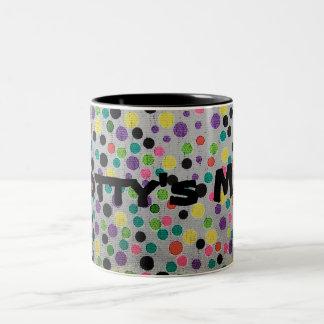 Spots and Dots Coffee Cup Two-Tone Coffee Mug