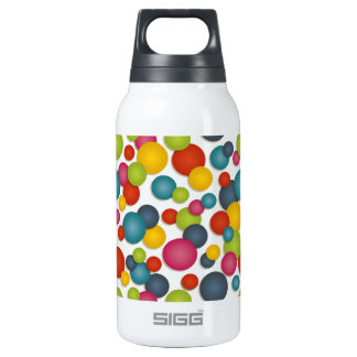 spots and dots insulated water bottle